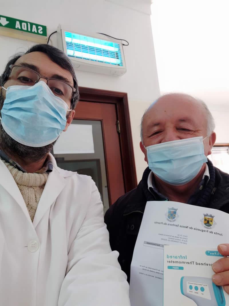 Oferta de Termómetro de Infravermelhos ao Pólo de Saúde da Frazoeira