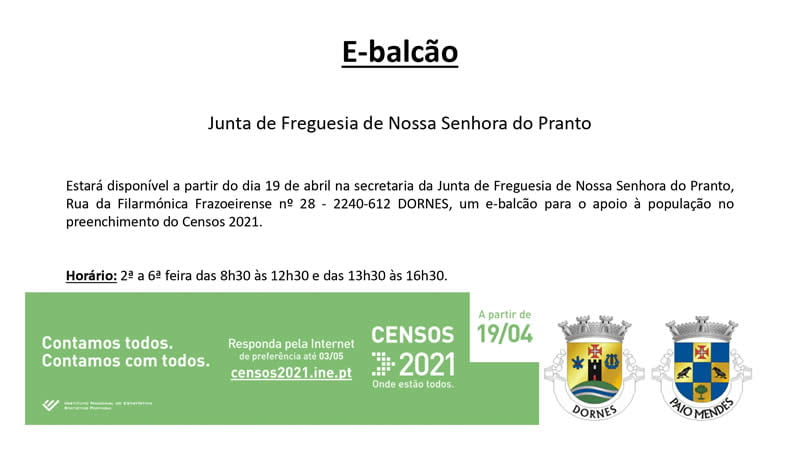 E-balcão Censos 2021